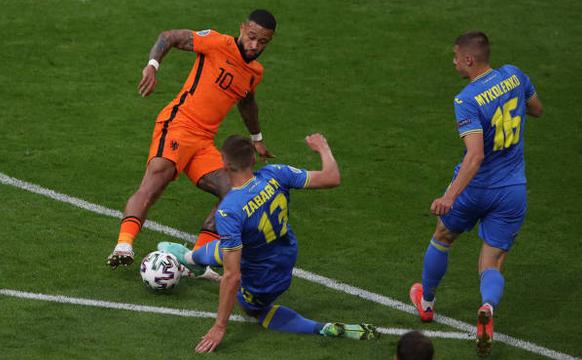 Olanda - Ucraina 3-2,  în Grupa C la EURO 2020.