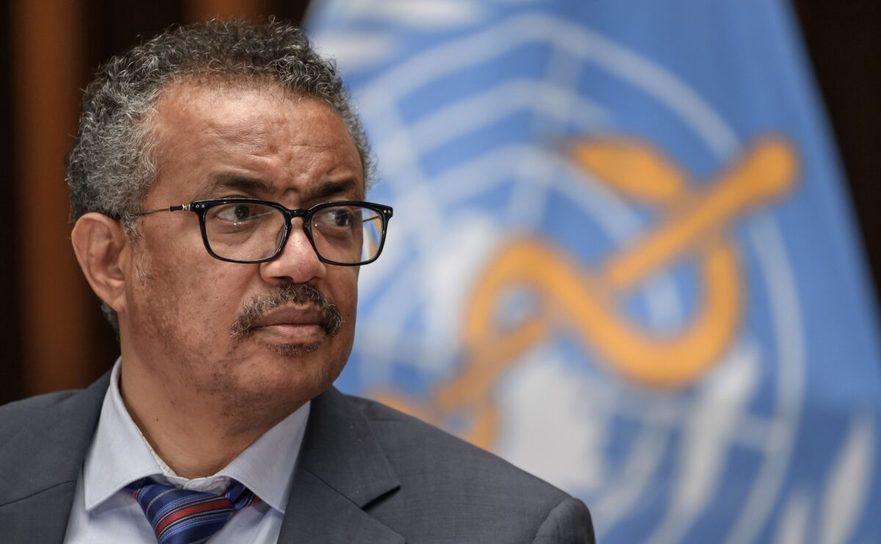 Directorul Organizaţiei Mondiale a Sănătăţii, Tedros Adhanom Ghebreyesus - 3 iulie 2020 în Geneva