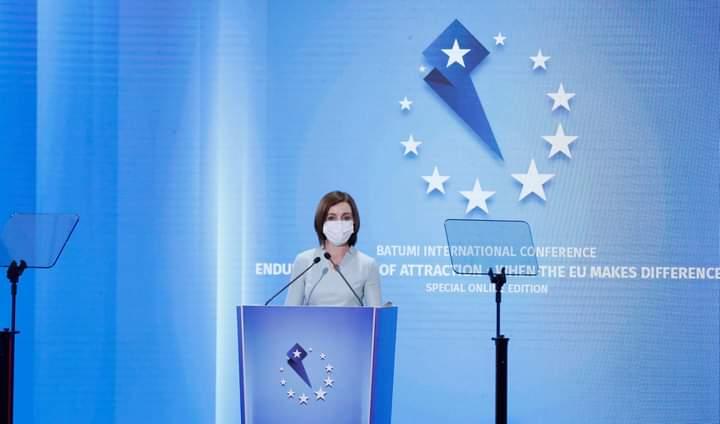 Maia Sandu, la Batumi