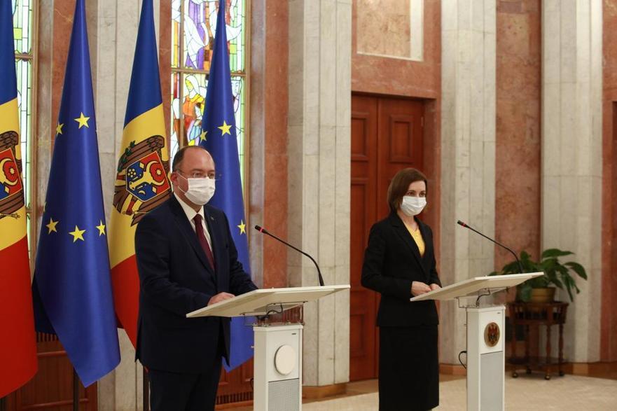 Bogdan Aurescu şi Maia Sandu la Chişinău, 23.07.2021