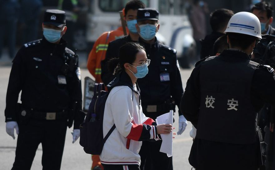 Poliţie în Beijing, China