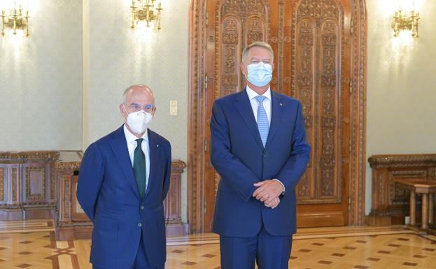 Preşedintele Klaus Iohannis şi Francesco Starace, CEO Enel Group.