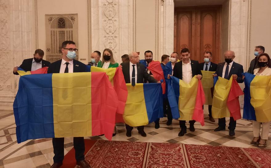 George Simion, Dan Tănasa şi alţi parlamentari AUR