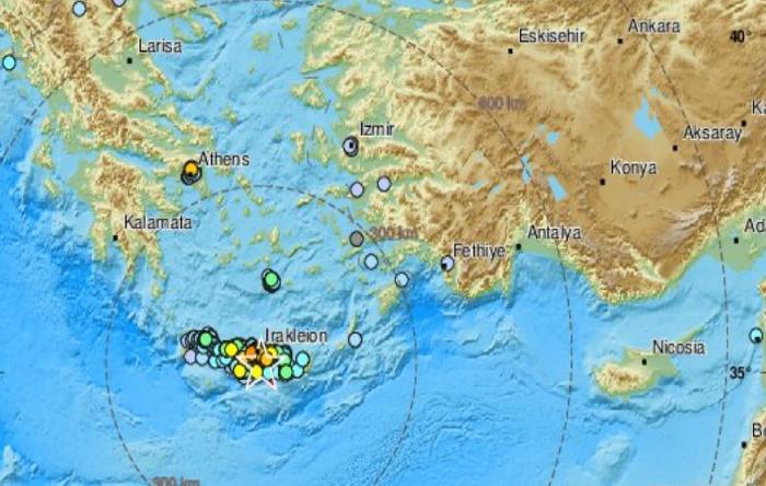 Cutremur în Creta, Grecia