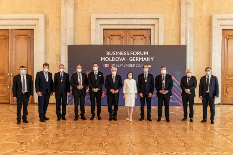 Maia Sandu şiFrank-Walter Steinmeier la Forumul de afaceri moldo-german