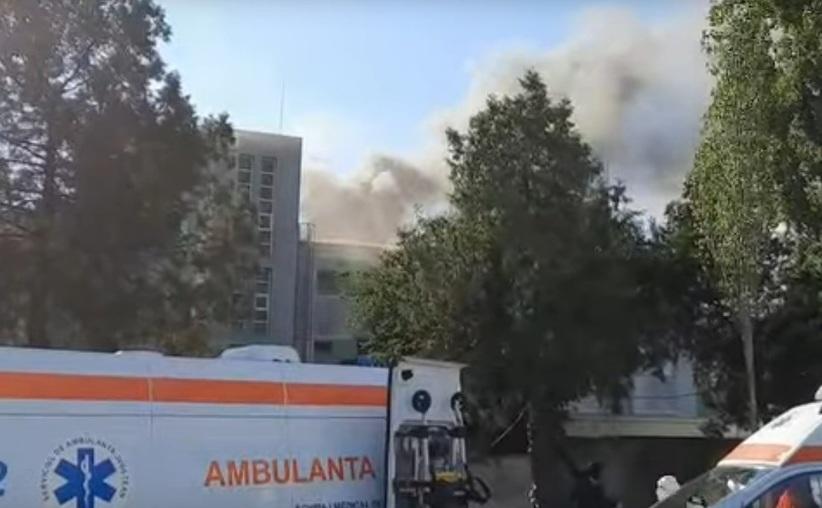 Incendiu la Spitalul de  Boli Infecţioase din Constanta