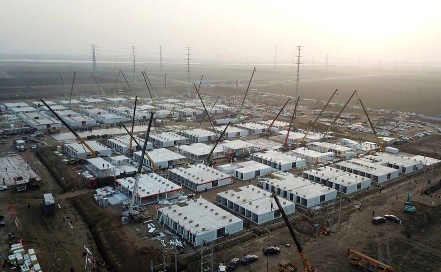 Centre de carantină, pentru internarea celor care se îmbolnăvesc de COVID, construite de regimul comunist chinez în Shijiazhuang, provincia Hebei - 16 ianuarie 2021