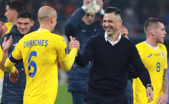 Selecţionerul naţionalei de fotbal a României, Mirel Rădoi.