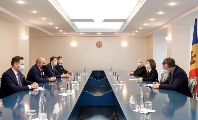 Maia Sandu la întâlnire cu membrii PPE pentru România