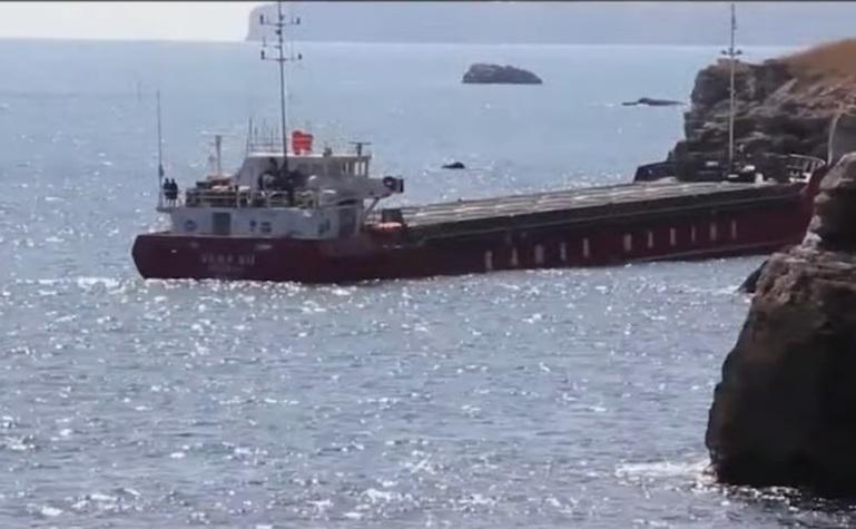 Nava cu 3.000 de tone de îngrăsământ chimic, eşuata în dreptul ţărmului bulgăresc