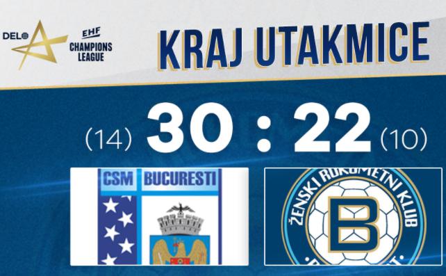 CSM Bucureşti - Buducnost BEMAX Podgorica 30-22 (14-10), într-un meci din Grupa A a Ligii Campionilor la handbal feminin.